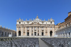Papal basilica of saint peter in vatican. Papal basilica of saint peter is taken in vatican royalty free stock image