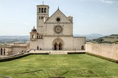 Papal Basilica of St. Francis in Assisi Royalty Free Stock Photography