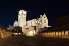 The Papal Basilica of St. Francis of Assisi Stock Photo