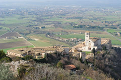Papal Basilica of St. Francis of Assisi. Basilica of San Francesco d'Assisi in Italian, is the mother church of the franciscan order in Assisi, Italy Stock Photography