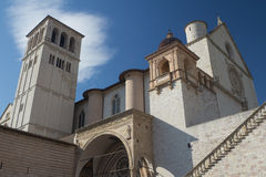 The Papal Basilica of St. Francis of Assisi. (Assisi, Umbria, Italy Stock Image