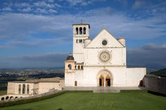 The Papal Basilica of St. Francis of Assisi. (Assisi, Umbria, Italy Royalty Free Stock Photo