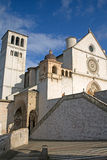 The Papal Basilica of St. Francis of Assisi. (Assisi, Umbria, Italy). Vertically Stock Image