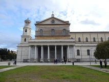 The Papal Basilica of St. Paul outside the Walls in Rome. In Italia. The Papal Basilica of St. Paul outside the Walls Italian: Basilica Papale di San Paolo royalty free stock image