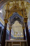 Papal Basilica of St. Paul outside the Walls in Rome. Rome, Italy - August 12, 2017: Interior of the Papal Basilica of St. Paul outside the Walls, one of Rome`s royalty free stock photos