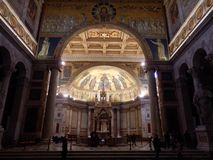 The Papal Basilica of St. Paul outside the Walls in Rome. In Italia. The Papal Basilica of St. Paul outside the Walls Italian: Basilica Papale di San Paolo royalty free stock photos