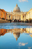 The Papal Basilica of St. Peter. ROME - NOVEMBER 10: The Papal Basilica of St. Peter on November 10, 2016 in Rome, Italy stock image