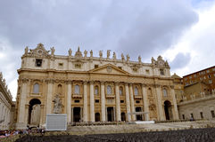 The Papal Basilica of St. Peter. In the Vatican royalty free stock image