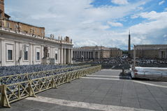 The Papal Basilica of St. Peter in the Vatican. Papal Basilica of St. Peter in the Vatican stock photos