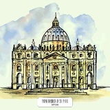 Papal Basilica of St. Peter in the Vatican. Royalty Free Stock Photos
