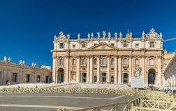 The Papal Basilica of St. Peter in the Vatican. Is an Italian Renaissance church in Vatican City stock photos