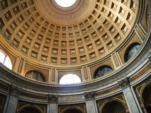 The Papal Basilica of St. Peter in the Vatican or simply St. Peter`s Basilica is an Italian Renaissance church in Vatican City. Designed principally by Donato Royalty Free Stock Photos