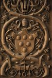 Papal coat of arms Fresco in the Vatican. Royalty Free Stock Photos