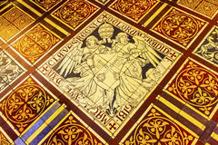 Papal Keys Angels Tile Floor De Krijtberg Amsterdam Netherlands. Papal Keys Angels Tile Floor De Krijtberg Church Amsterdam Holland Netherlands. De Krijtberg may stock photography