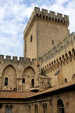 The Papal palace, Avignon. View of the Papal palace in Avignon, France stock image