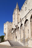Papal Palace of Avignon. France stock photography