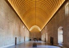 Papal Palace Avignon France. A corridor with arches in the Palais des Papes. Avignon, Provence, France royalty free stock photos