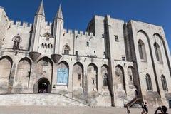 Papal Palace Avignon France. The facade of the Palais des Papes. Avignon, Provence, France royalty free stock photo