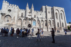 Papal Palace Avignon France Royalty Free Stock Photos