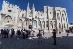 Papal Palace Avignon France. The facade of the Palais des Papes. Avignon, Provence, France royalty free stock photos