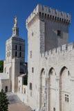 Papal Palace Avignon France. The facade of the Palais des Papes. Avignon, Provence, France royalty free stock photography