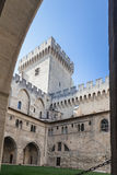 Papal Palace Avignon France. The inner square of the Palais des Papes. Avignon, Provence, France royalty free stock photo