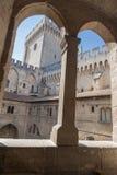 Papal Palace Avignon France Stock Photo