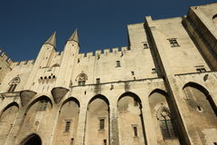 Papal palace in Avignon, France. Papal palace or Palais des Papes in Avignon, Provence in south of France royalty free stock photos