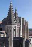 Papal Palace Avignon France. Thhe towers of the Palais des Papes. Avignon, Provence, France stock photos
