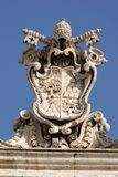 Papal seal. In Sain Peter's square, Vatican City royalty free stock photos