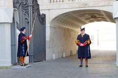 Papal swiss guard Stock Photography
