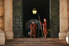 Papal Swiss Guard Royalty Free Stock Photo