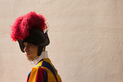 Papal Swiss Guard in uniform Stock Images