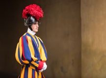 Papal Swiss Guard in uniform Stock Photo