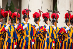 Papal Swiss Guard in uniform Royalty Free Stock Images
