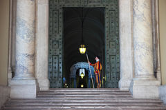 Papal Swiss Guard Royalty Free Stock Images