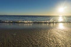 Papamoa Beach, outlook to horizon Royalty Free Stock Photos