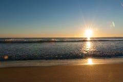 Papamoa Beach, outlook to horizon Stock Images
