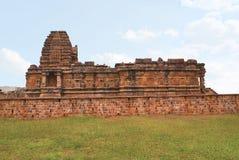 The Papanatha temple, Pattadakal temple complex, Pattadakal, Karnataka, India. View from south. Elevationally, from the bottom are adhishthana, bhitti, wall stock photos