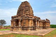 The Papanatha temple, Pattadakal temple complex, Pattadakal, Karnataka, India. View from southwest. Elevationally, from the bottom are adhishthana, bhitti royalty free stock photography