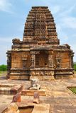 The Papanatha temple, Pattadakal temple complex, Pattadakal, Karnataka, India. View from west. Elevationally, from the bottom are adhishthana, bhitti, wall stock images