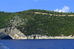 Papanikolis Sea cave,Meganisi Stock Photography