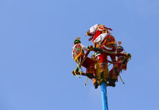 Papantla flying men I Royalty Free Stock Photography