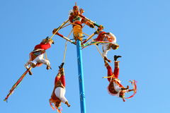 Papantla flying men V Royalty Free Stock Photos