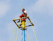 Papantla flying men VI Stock Photo