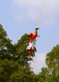 Papantla flying men VII Stock Photo