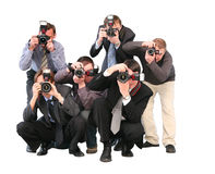 Paparazzi Photos stock