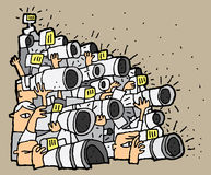 Paparazzi cartoon No.1. Illustration is in eps8  mode Royalty Free Stock Photos