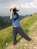 Paparazzi dans l'action photographie stock