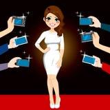 Paparazzi Famous Woman Stock Photography